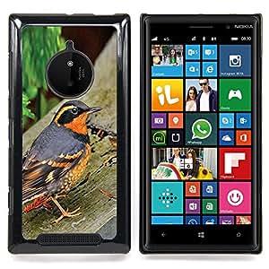 - Spring Nature Bird Trees Summer Orange/ Duro Snap en el tel????fono celular de la cubierta - Cao - For Nokia Lumia 830