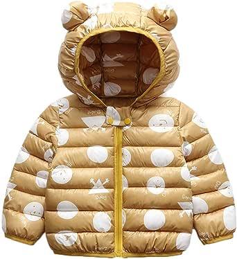 Bebé Chaqueta Invierno, Niños Niñas Abrigo con Capucha Traje de Nieve Manga Larga Outfits Calentar Warmer Regalos Ropa 6 Meses-5 años