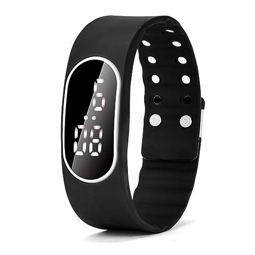 Zarup Para mujer para hombre del reloj LED de goma Unsex Fecha Deportes reloj digital pulsera: Zarup: Amazon.es: Relojes