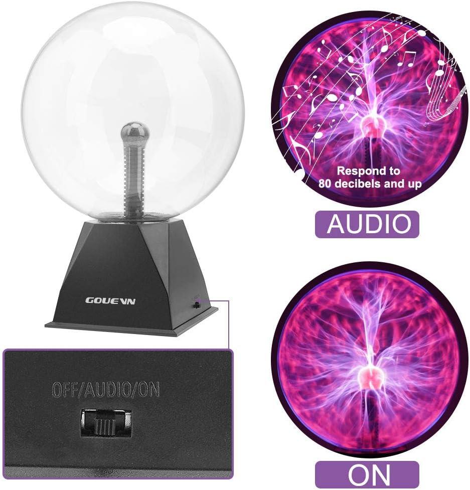 Esfera Plasma Retro de 8 Pulgadas activaci/ón por Sonido Chal-Tec