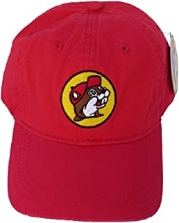b9ee23cd Amazon.com: Buc-ees Red White and Blue Adjustable Baseball Cap with ...