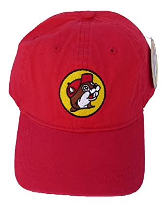 0bbc8e961d7 Amazon.com  Buc-ee s Red Adjustable Baseball Cap with Bucky The ...