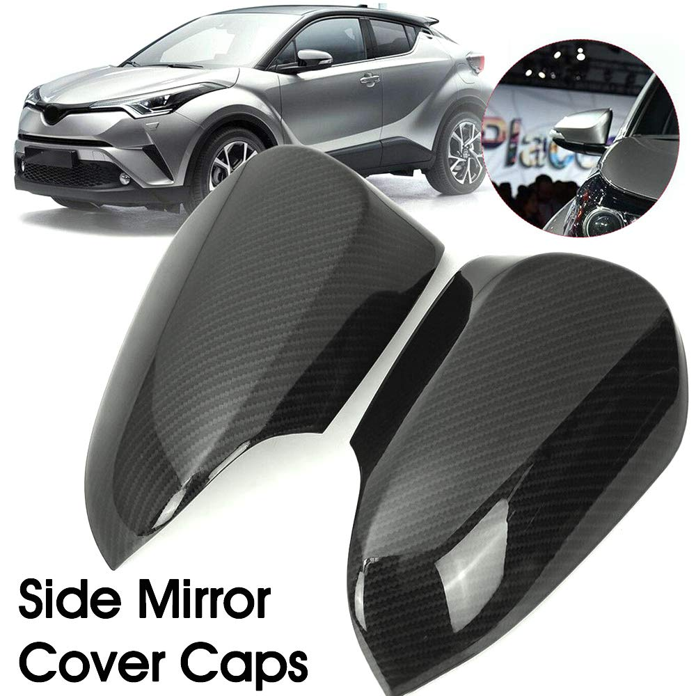 RONSHIN Cover per specchietto retrovisore Laterale per Toyota C-HR CHR in Fibra di Carbonio