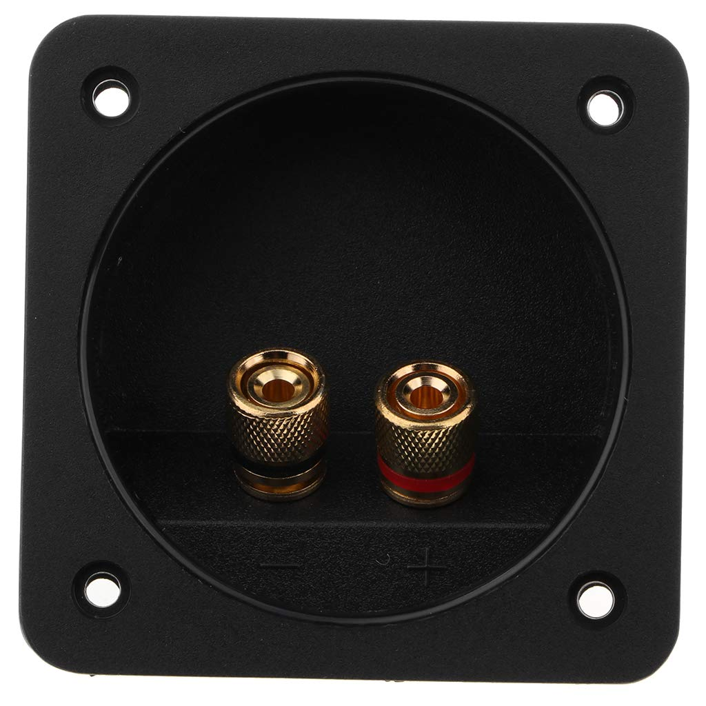 KESOTO Connecteur de Terminal de Bo/îte 2 Voies Accessoires de Bricolage Audio avec 4 Pi/èces de Vis pour HiFi 80-Grande Colonne