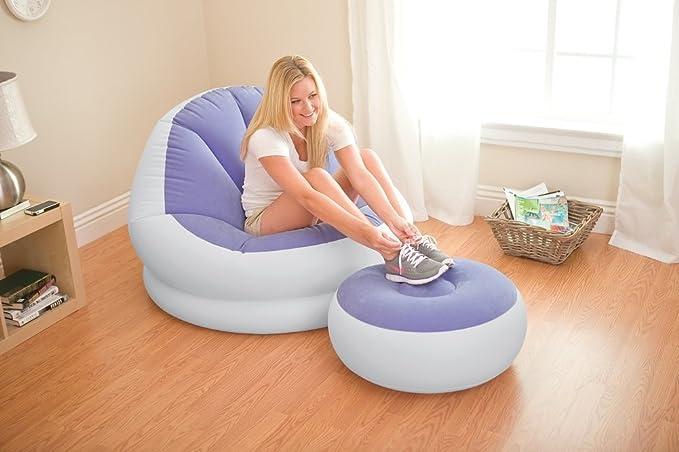 Amazon.com: Nueva púrpura hinchable Intex Cafe Chaise silla ...