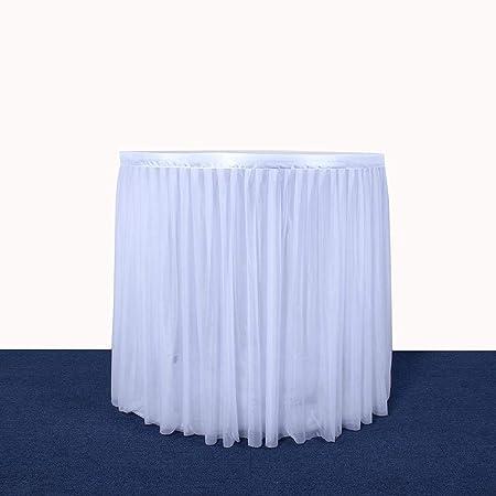 arthomer - Falda de Mesa Blanca para Todas Las reuniones de ...