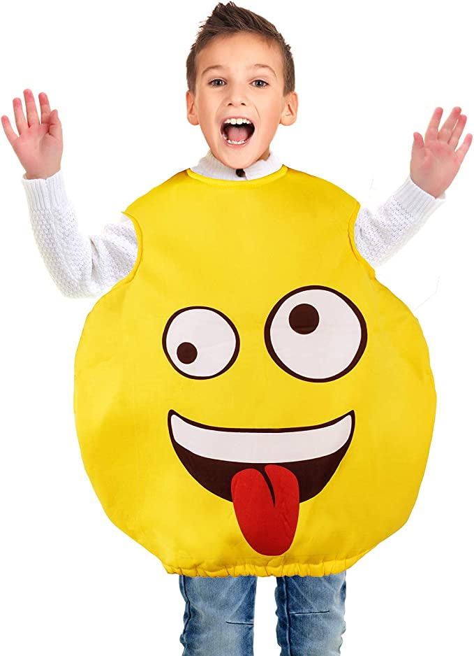 Tigerdoe Emoticon Costume - Funny Costumes for Kids - Halloween Costume - Emoticon Theme Party Yellow
