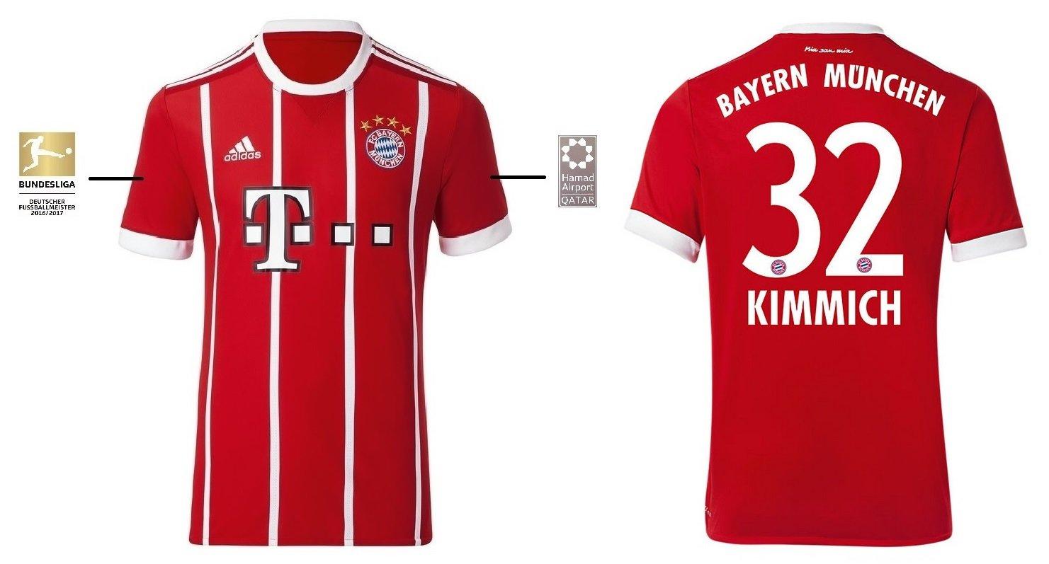 Trikot Kinder FC Bayern 2017-2018 Home BL - Kimmich 32