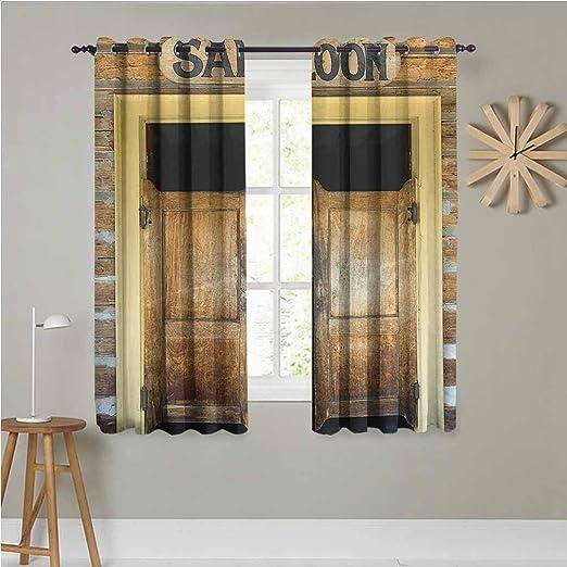 Amazon Com Saloon Decor Collection Grommet Window Curtains