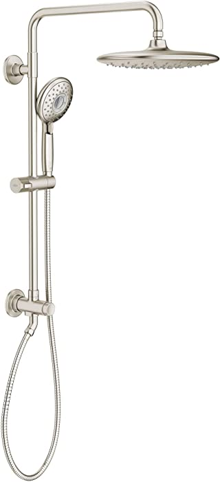 American Standard 9035804.295 Spectra Versa System with Rain Showerhead and Hand Shower, 2.5 GPM, Brushed Nickel