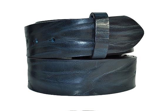 VaModa Ceinture en cuir, Belt, modèle Crush, couleur taupe marine, Longueur  c681584fae4