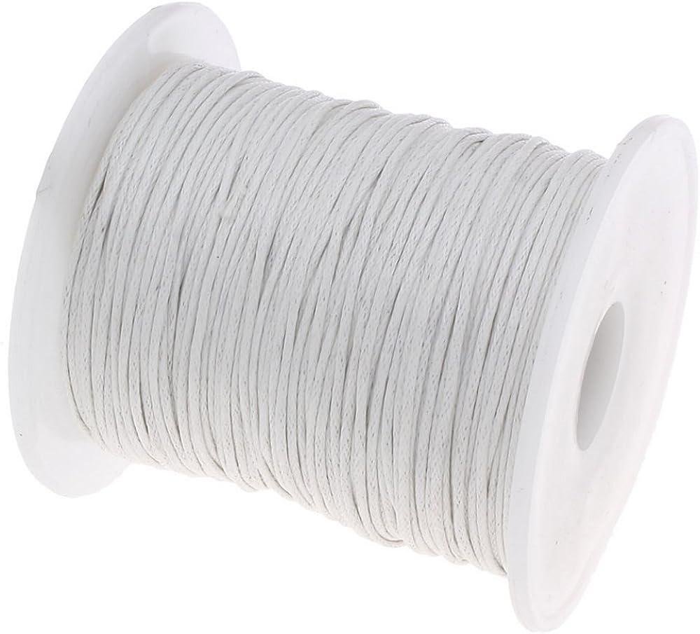 My-Bead algodón cuerda encerada trenzado diámetro Ø 1 mm rollo con ...