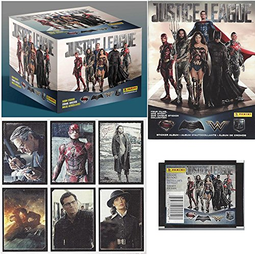 2017 Panini DC Comics 'Justice League' Sticker Collection Master Kit (1 50-pack box & 1 album) from Panini