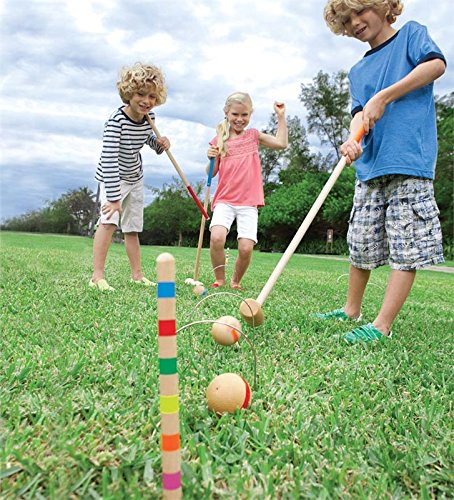 Vilac 6 Players Croquet Set in Golf Bag, Large by Vilac