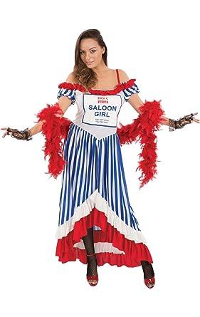 ORION COSTUMES Disfraz de Chica de Taberna Gracioso con estampado ...