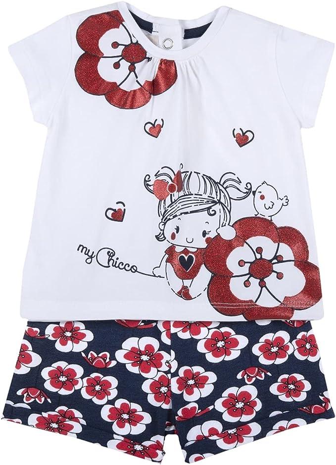 Chicco Completo t-Shirt + Pantaloncini Bimba