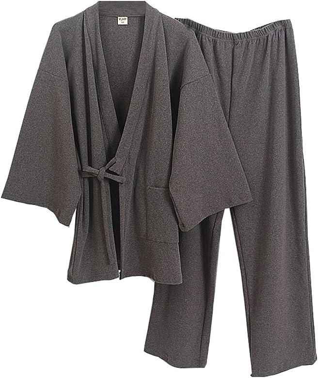 Traje de Pijama de Kimono de Gasa de Estilo japonés para ...