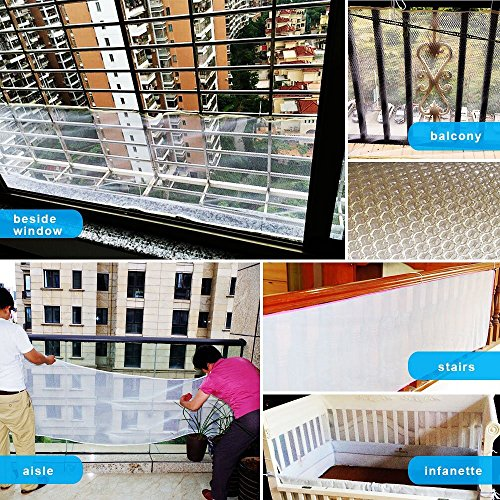 Rain Queen Kids Safety Net, Balcony and Stairway Safety Net for Baby Child Kids Indoor & Outdoor- Child Safety; Pet Safety; Toy Safety by RAIN QUEEN (Image #6)