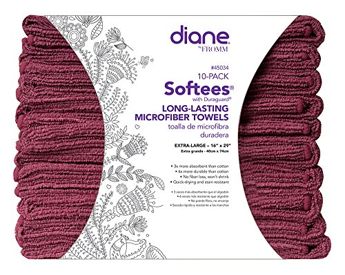 Softees Towels with Duraguard, Plum, 10pk from Fromm