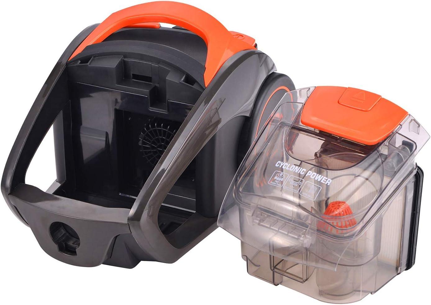 ForMe Aspirador sin Bolsa Sistema Cicl/ónico Compacto I 2 L Dep/ósito I Multicicl/ónico 700W I Filtro de 5 Etapas I Cepillo parquet y boquilla 2 en 1 para ranuras 79 dB