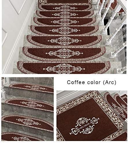 階段 滑り止めマット 階段トレッドパッド非スリップ粘着カーペットセットの階段絨毯現代ホームDectorアートステップラグモーデン抽象カーペット 階段マット (Color : Red-80X80cm, Size : 2P)