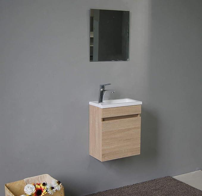 STARBATH PLUS Conjunto Mueble de Baño Suspendido MDF 40 x 22 cm ...