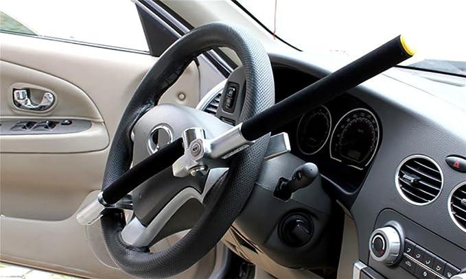 Jingbo Auto Lenkradsperre Metall Anti Diebstahl Lenkradschloss Diebstahlsicherung Lenkradkralle Absperrstange Sport Freizeit