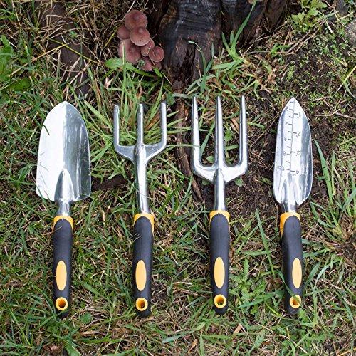 Gardenhome ergonomic garden tools 4 piece tool set new ebay for Gardening tools description