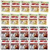 MET-Rx Original Meal Replacement Variety Sampler Pack, Includes Extreme Chocolate, Original Vanilla, (20)