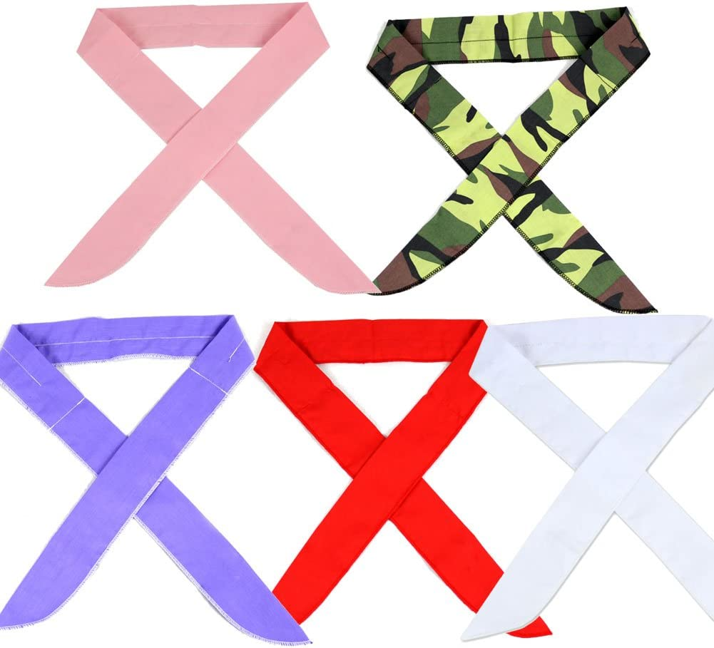 The Elixir Bandanna ICE Scarf Neck Wrap Cooling Scarf Multipack Keep Cool Scarf, Pack of 5