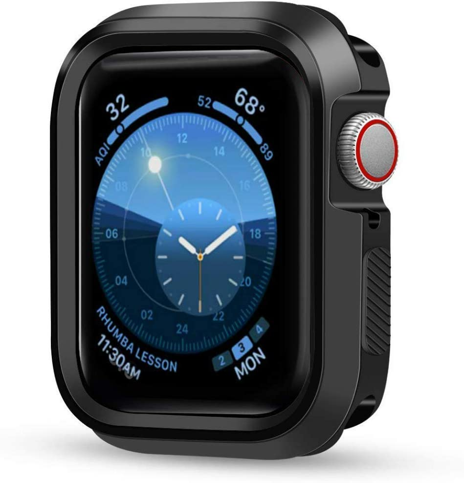 Case Compatible with Apple Watch 40mm Series 4 Series 5 Shock-Proof Bumper Protector Cover, Black