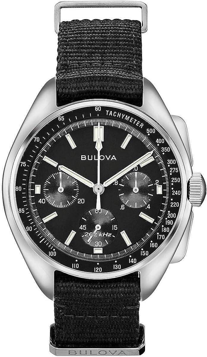 Men s Bulova Lunar Pilot Chronograph Watch 96A225