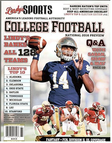 Download Lindy`s Sports College Footbal National Preview (Notre Dame Cover) ebook