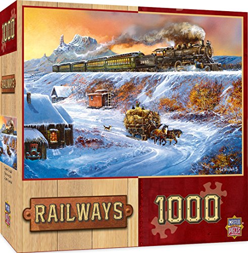 MasterPieces Railways Coyote Special Jigsaw Puzzle, Art by Ted Blaylock, (Early Settler Costume)