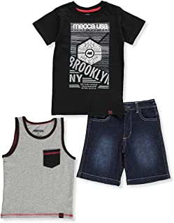 Mecca Boys' 3-Piece Shorts Set Outfit
