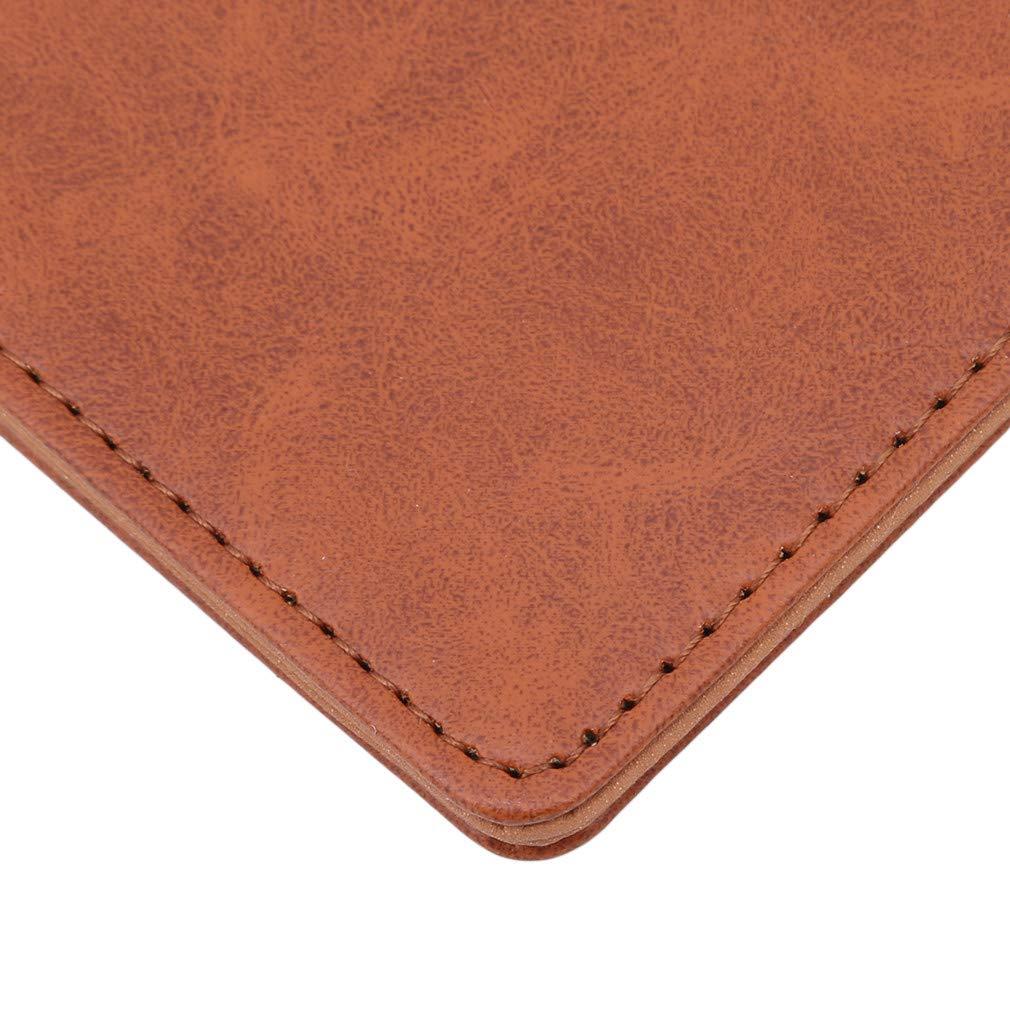 Dolland Men Leather Wallet Purse Passport Bag Man Pocket Wallet Minimalist Wallets,Brown
