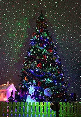 1byone Outdoor Laser Christmas Lights Garden Lights with IR Wireless Remote for Christmas Lighting Christmas Decoration
