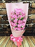 HOMEE 21 Creative Romantic Rose Soap Flower Gift Box Valentine'S Day Marriage Birthday Confession Girlfrie,Pink,60 20 12