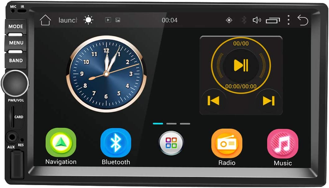 Android Car Stereo Double Din Bluetooth Car Radio Audio 7 Inch Touch Screen GPS WiFi USB FM/AM/RDS Radio Receiver Support Steering Wheel Control Rear View Camera Input