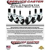 "Service Caster - 3"" x 1.25"" Hard Rubber Wheel"