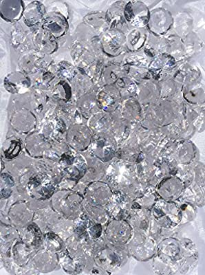 480+ Pieces 20mm Crystal Clear Acrylic Diamond Shape Jewels for Party Decoration ,Event ,Wedding , Vase Fillers, Arts & Crafts