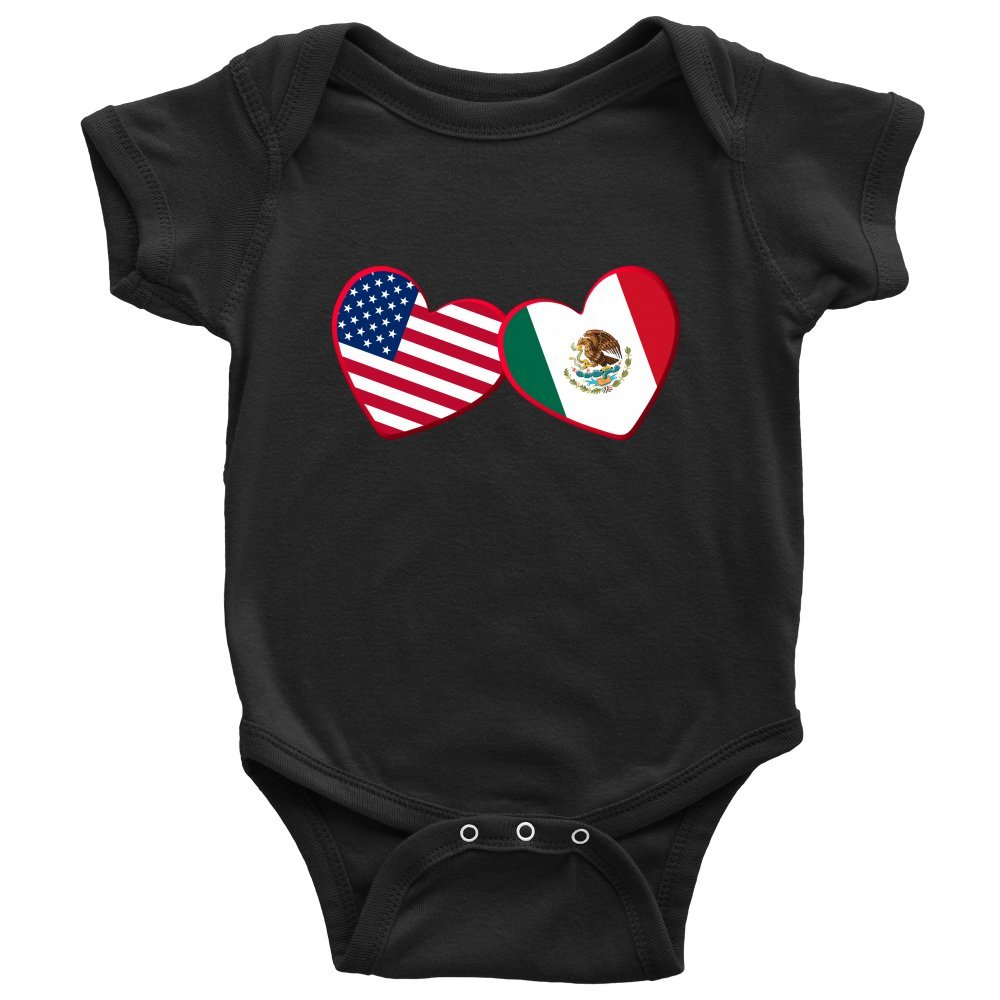 Infant Bodysuit Baby Romper Teelaunch Mexican and American