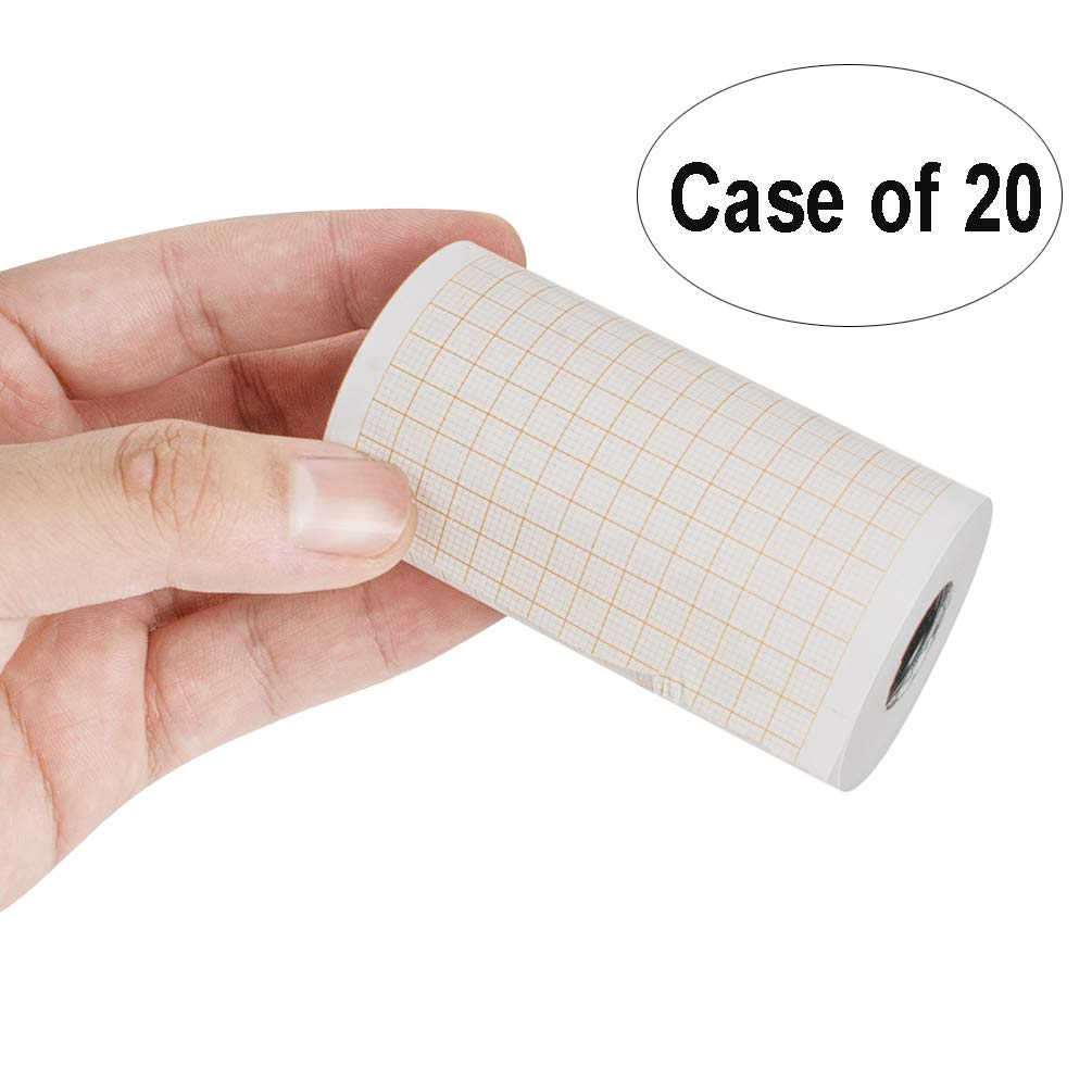 Case of 20,Thermal Printer Paper Roll for ECG EKG Electrocardiograp,Paper Roller (80mm20m,3 Channel)