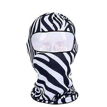 Black Temptation Al aire libre de fantasía pasamontañas sombrerería máscara facial para esquí de ciclismo de