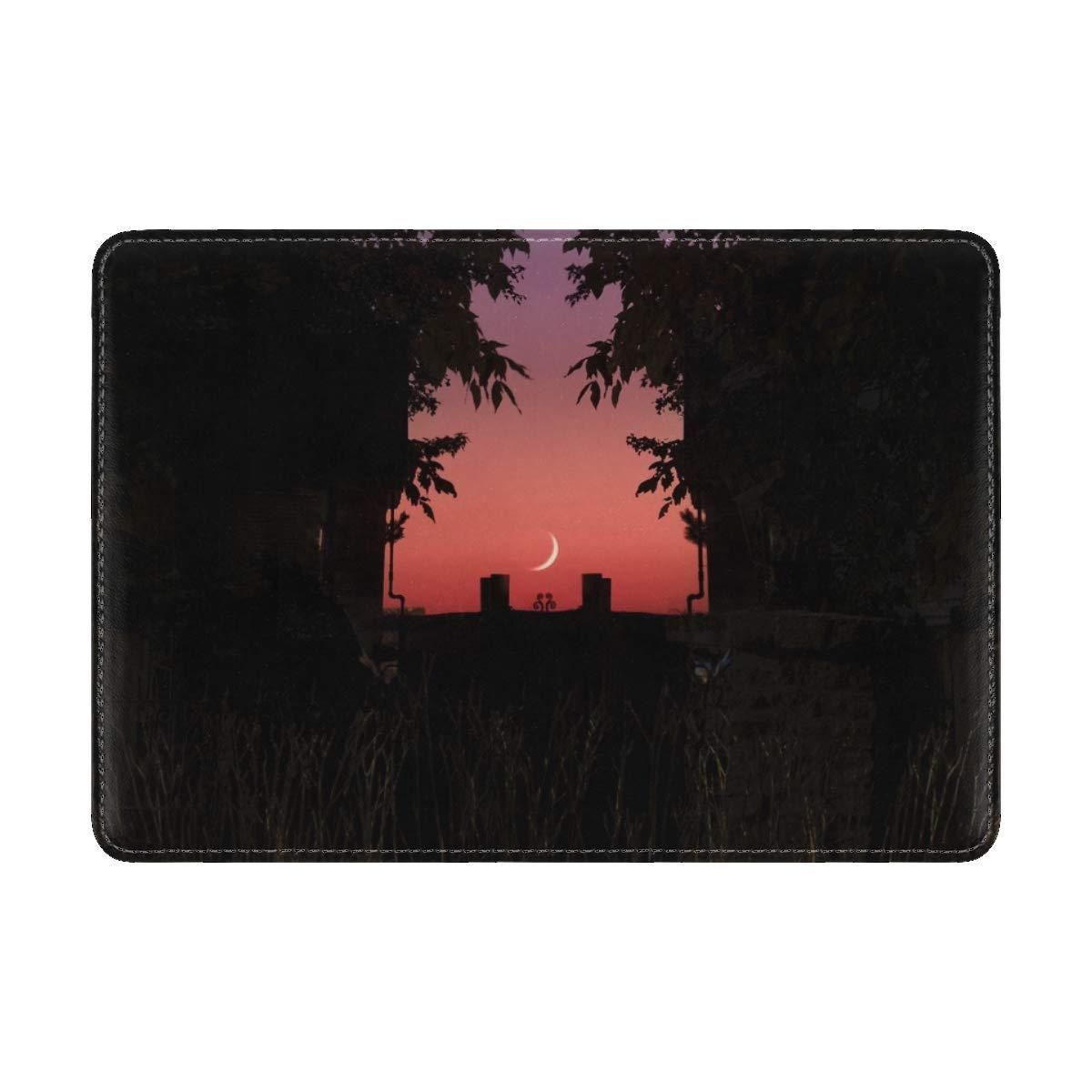 Twilight Dark Moon Leather Passport Holder Cover Case Travel One Pocket