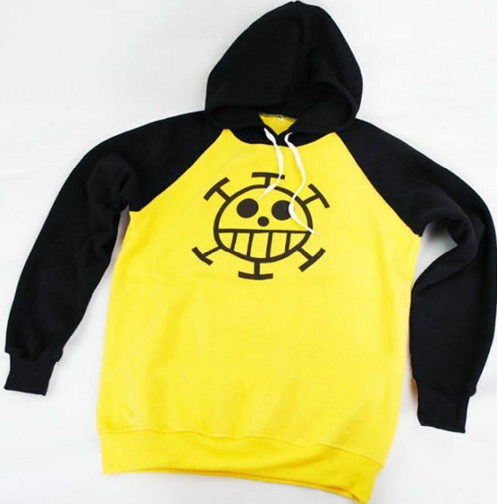 Cosstars One Piece Trafalgar Law Anime Hoodie Sudadera con Capucha Adulto Cosplay 3D Impreso Pullover Sudadera con Bolsillos Cord/ón