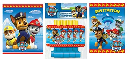 Pack of 2 US Paw Patrol 8ct Party Blow Outs