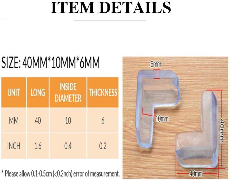 Coins De Fen/êtres Tables Basses mooderff Protection Coin de Table B/éb/é en PVC Transparent Angle S/écurit/é Souple Anti-Chocs /Épaissie 12 Pcs pour Hottes