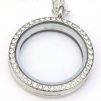 Crystal memoria medallón Collar del encanto del - Derbyshire Reino ...
