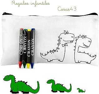 Estuche Dragones para Colorear con 4 Ceras. Lote de 15 Estuches: Amazon.es: Juguetes y juegos